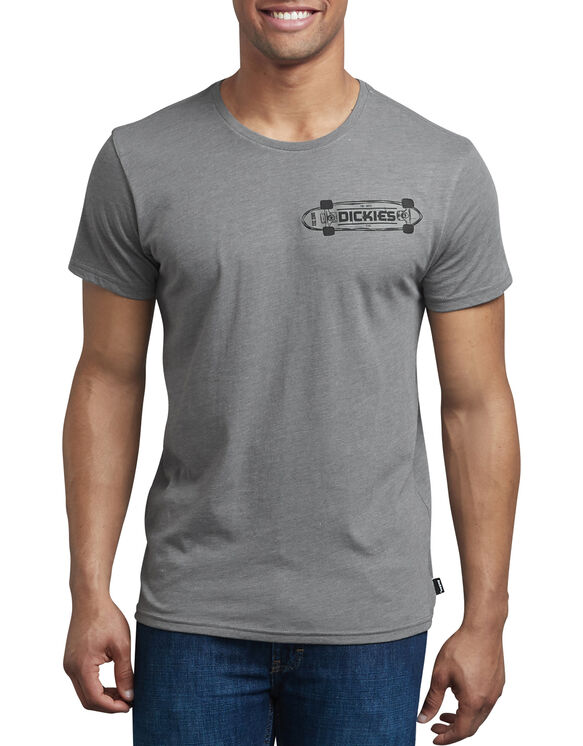 Slim Fit Dickies Skateboard Graphic T-Shirt - ATA GRAY HEATHER (AGH)