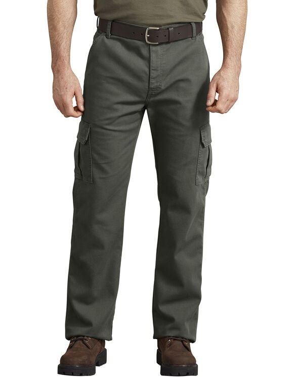 FLEX Regular Fit Tough Max™ Duck Cargo Pants - Stonewashed Olive Green (SOG)