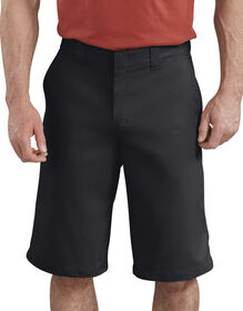 "13"" FLEX Active Waist Flat Front Shorts - Black (BK)"