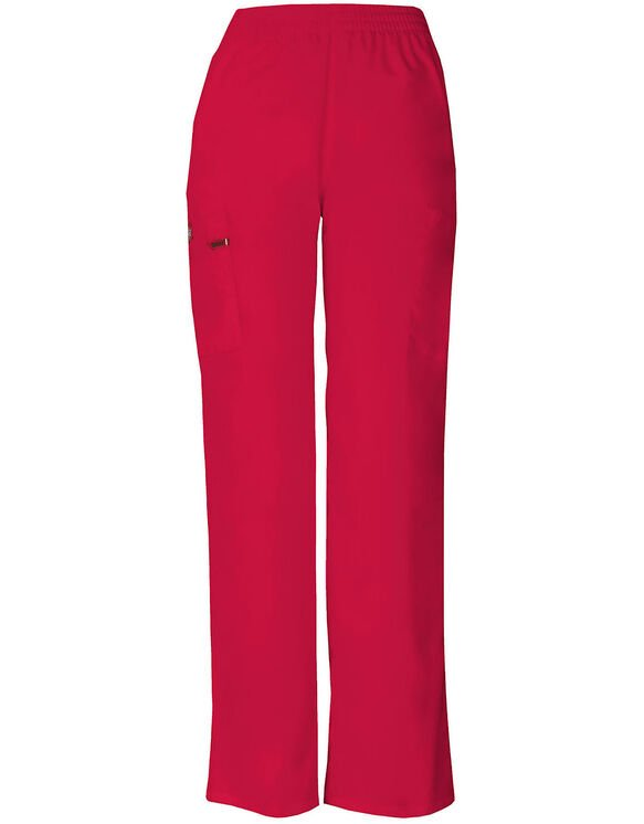 Women's EDS Signature Tapered Leg Cargo Scrub Pants - Red (RD)