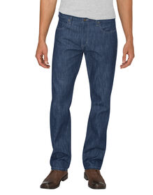 Dickies X-Series Button Fly  Regular Fit Straight Leg 5-Pocket Denim Jeans - Medium Indigo Blue (HMI)
