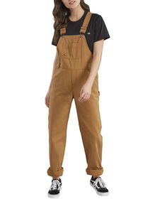 Women's Relaxed Fit Bib Overalls - Brown Duck (RBD)