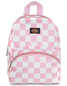 Pink/White Checkered Mini Backpack - CHECK PINK/WHITE (CKW)