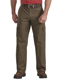 Relaxed Fit Straight Leg Ripstop Cargo Pants - Moss Green (RMS)