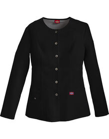 Women's Xtreme Stretch Snap Front Warm-Up Jacket - Black (BLK)