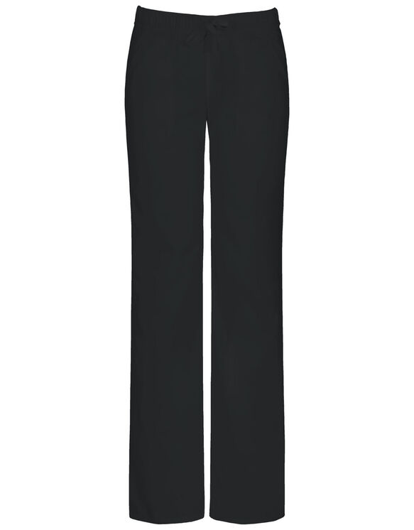 Women's EDS Signature Low-Rise Drawstring Scrub Pants with Certainty® - Black (BLK)