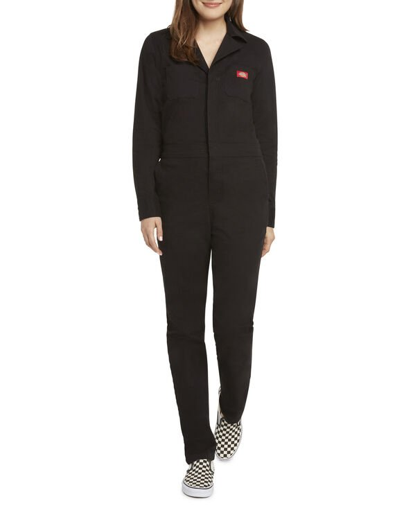 543aab833 Dickies Girl Juniors' Button Front Coveralls - Black ...