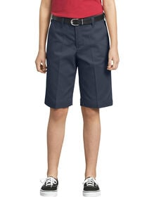 Girls' Classic Fit Bermuda Stretch Twill Shorts, 4-6 - Dark Navy (DN)