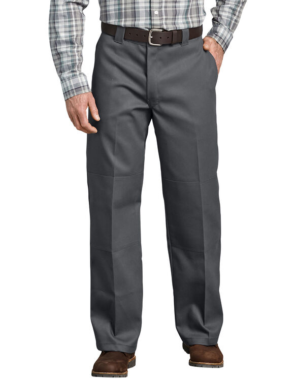 FLEX Loose Fit Double Knee Work Pants - Charcoal Gray (CH)