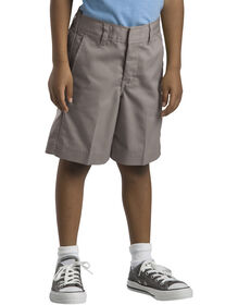 Boys' Flat Front Shorts, 4-7 - Silver (SV)