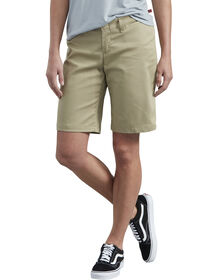 "Women's 10"" Relaxed Fit Stretch Twill Shorts - Desert Khaki (DS)"