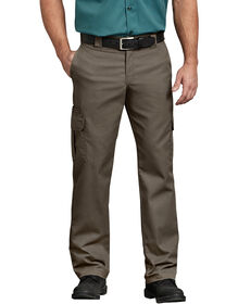 FLEX Regular Fit Straight Leg Cargo Pants - Mushroom (MR1)