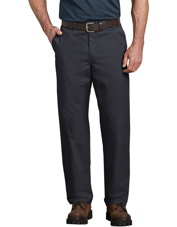 Industrial Relaxed Fit Straight Leg Comfort Waist Pants - Black (BK)