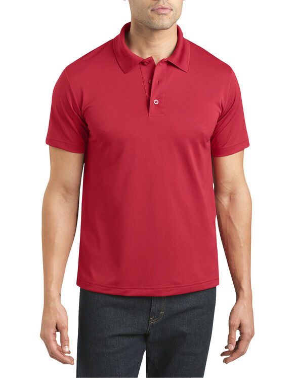 Adult Size Performance Polo Shirt - APPLE RED (LR)