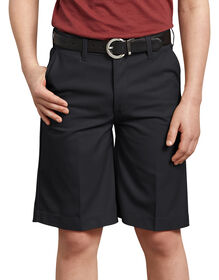 Boys' FlexWaist® Flat Front Shorts, 8-20 Husky - Black (BK)