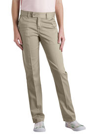 Girls' Slim Fit Straight Leg Stretch Twill Pants, 4-20 - Desert Khaki (DS)