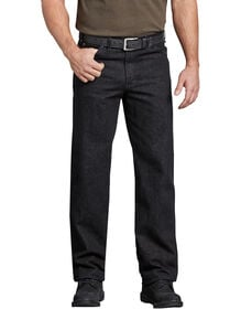 Industrial Regular Fit Denim Jeans - Rinsed Black (RBK)