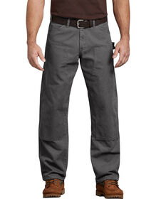 Relaxed Fit Straight Leg Double Front Duck Jeans - Dark Gray (RSL)