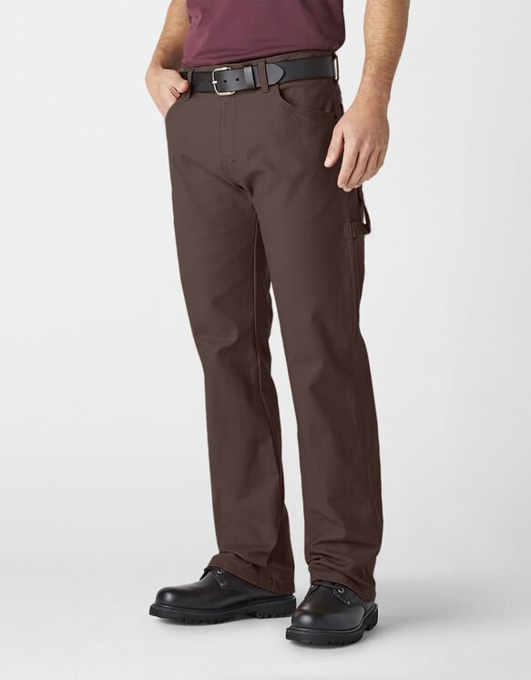 Relaxed Fit Straight Leg Carpenter Duck Jeans - Dark Brown (RCB)