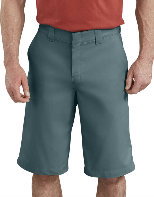 "13"" FLEX Active Waist Flat Front Shorts - Lincoln Green (LN)"