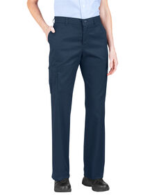 Women's Premium Relaxed Fit Straight Leg Cargo Pants - Dark Navy (DN)