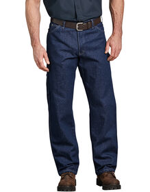 Industrial Relaxed Fit Carpenter Denim Jeans - Rinsed Indigo Blue (RNB)