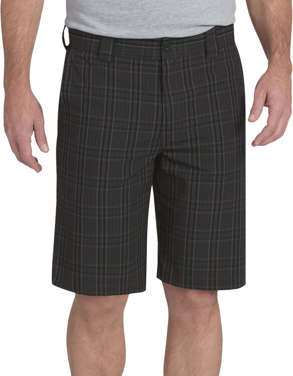 "11"" Regular Fit Plaid Work Shorts - Charcoal Gray Plaid (PCH)"