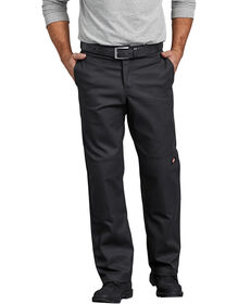 FLEX Regular Fit Straight Leg Double Knee Work Pants - Black (BK)
