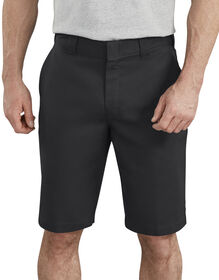 "11"" FLEX Active Waist Flat Front Shorts - Black (BK)"