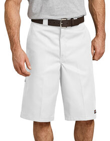 "13"" Loose Fit Multi-Use Pocket Work Shorts - White (WH)"