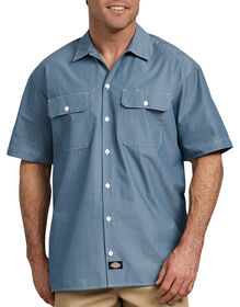 Relaxed Fit Short Sleeve Chambray Shirt - Blue Chambray (BU)