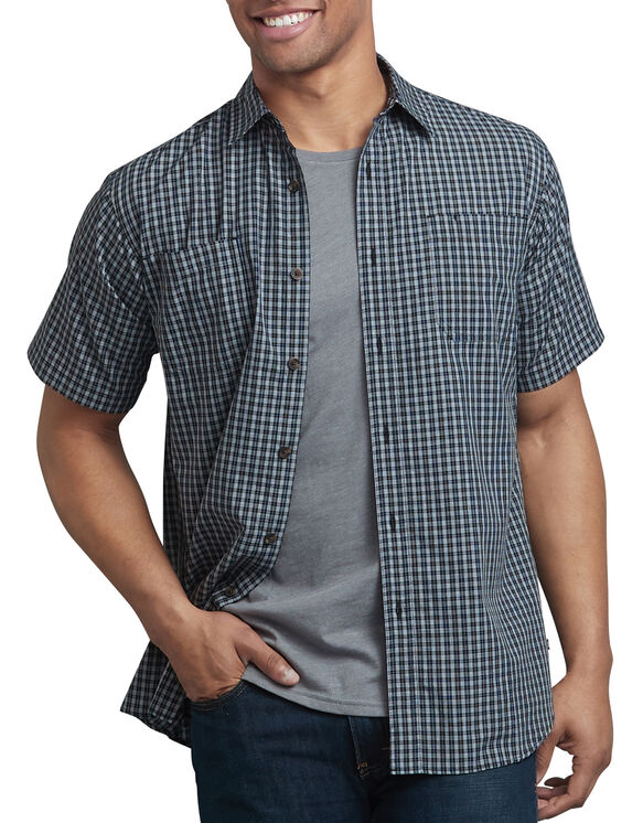Icon Relaxed Fit Yarn Dyed Shirt - Black Blue Gray Check (RWLA)