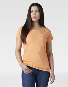 Women's Short Sleeve Cooling Temp-iQ® Performance T-Shirt - Cantaloupe Heather (AAH)