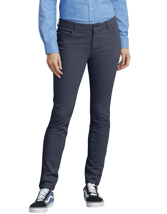 Women's Perfect Shape Skinny Twill 4-Pocket Pants - Navy Blue (RNV)