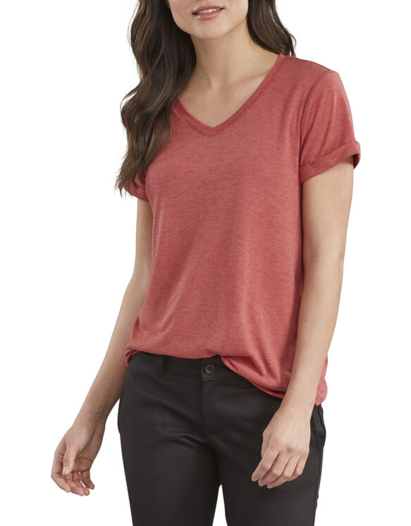 Women's Heritage Short Sleeve V-Neck T-Shirt - Red Heather (EDH)
