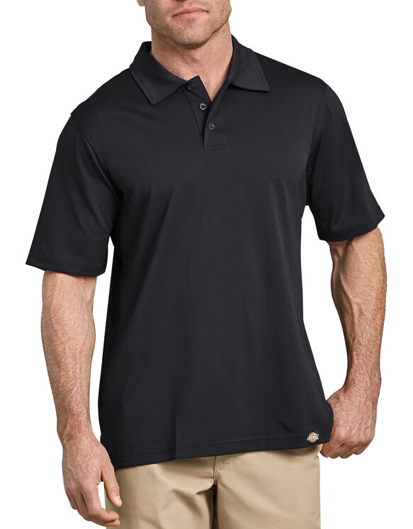 Industrial Work Tech Performance Ventilated Polo Shirt - Black (BK)