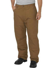 Flame-Resistant Relaxed Fit Straight Leg Insulated Duck Pants - Brown Duck (BD)