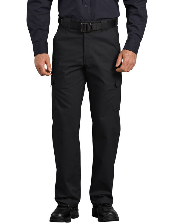 Tactical Relaxed Fit Straight Leg Ripstop Cargo Pants - Black (BK)