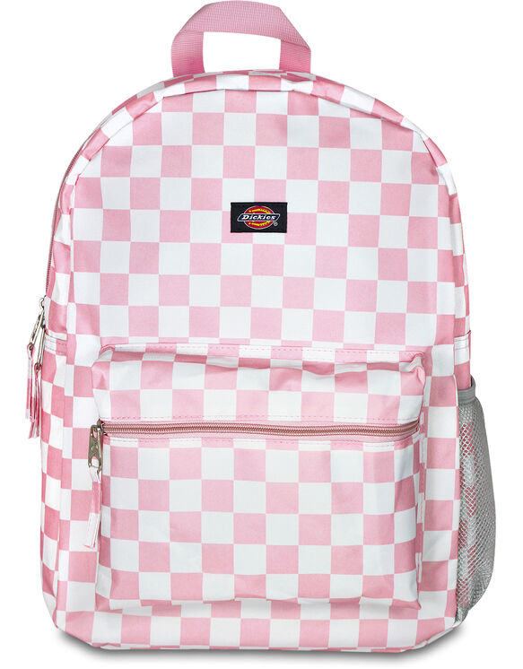 Student Pink/White Checkered Backpack - Pink White Checkered (CKW)