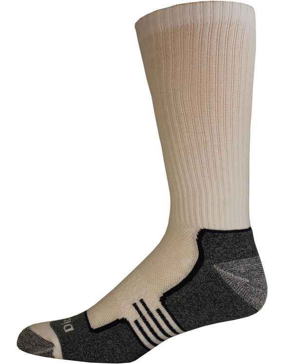 Industrial Strength Moisture Control Crew Socks, 3-Pack, Size 6-12 - White (WH)