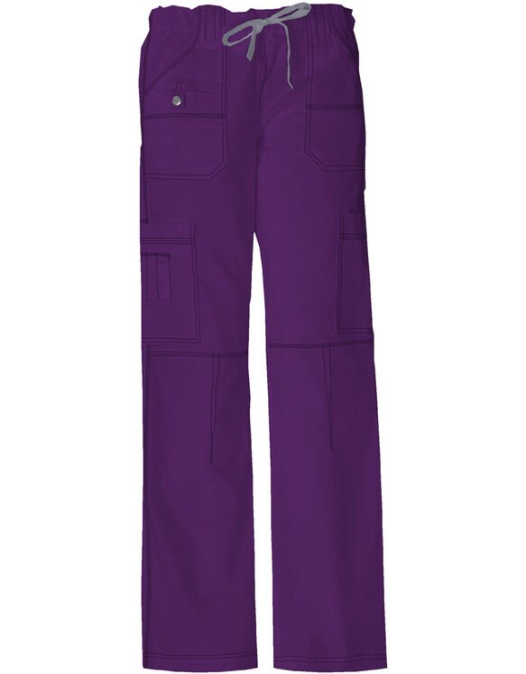 Women's Gen Flex Youtility Cargo Scrub Pants - Purple Eggplant (EGG)
