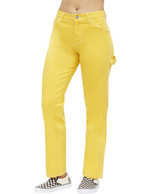 Dickies Girl Juniors' Relaxed Fit Carpenter Pants - Yellow (GL)