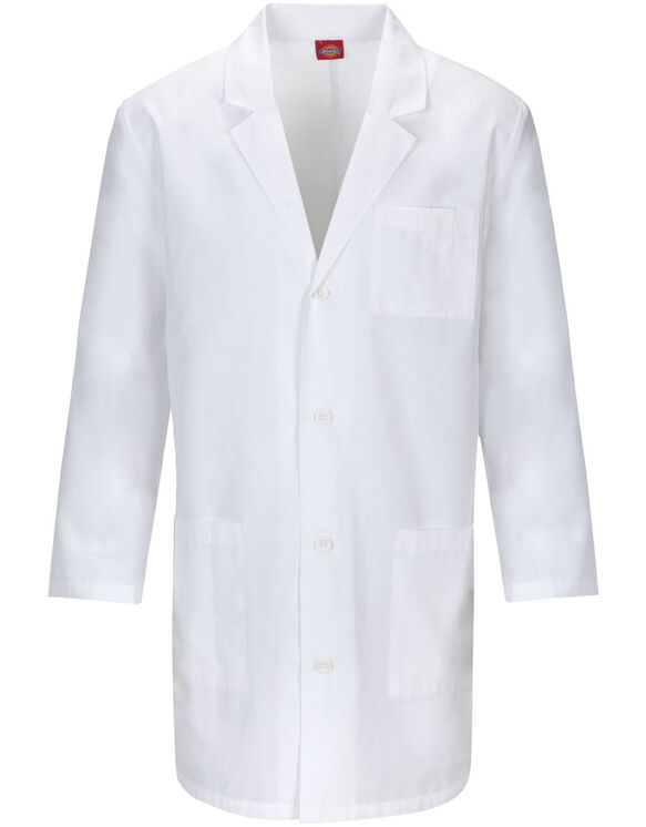 """Unisex  EDS Signature 37"""" Lab Coat with Certainty® - White (WH)"""