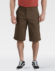 "13"" FLEX Temp-iQ™ Active Waist Flat Front Shorts - Timber Brown (TB)"