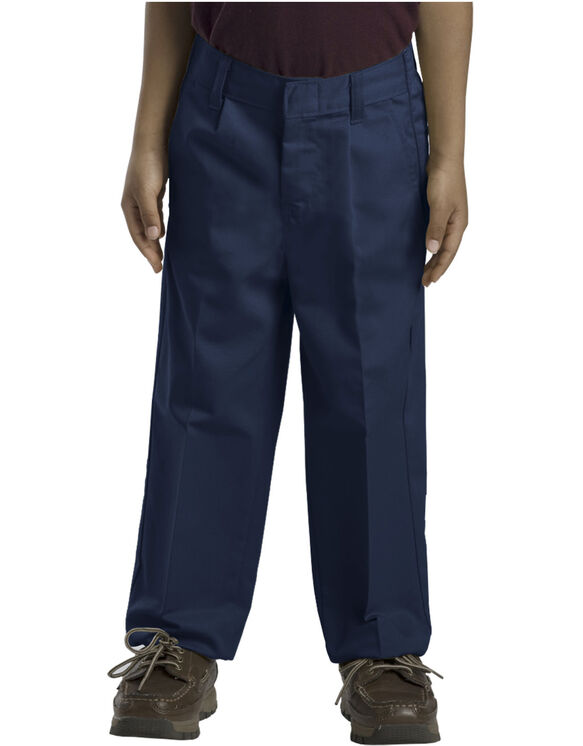 Boys' Classic Fit Straight Leg Pleated Front Pants, 8-20 - DARK NAVY (DN)