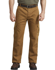 FLEX Regular Fit Tough Max™ Duck Cargo Pants - Stonewashed Brown Duck (SBD)