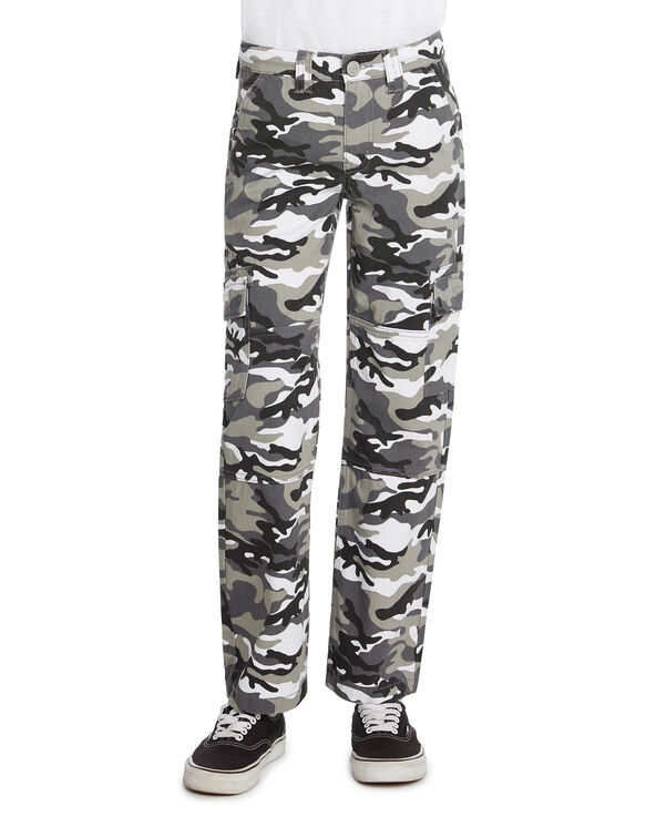 Boys' Relaxed Fit Camo Cargo Pants - Gray Camo (GEC)