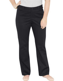 Genuine Dickies Women's Relaxed Bootcut Stretch Twill Pants - Black (BK)