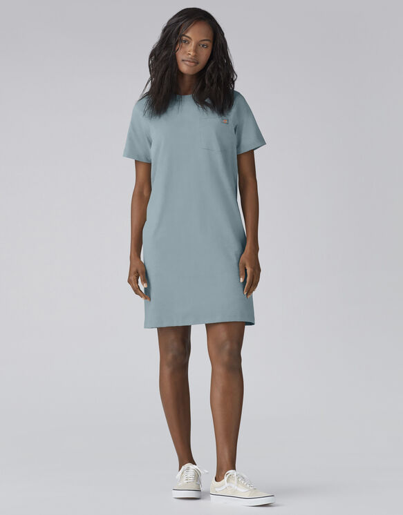Women's Heavyweight T-Shirt Dress - Dockside Blue (DU1)