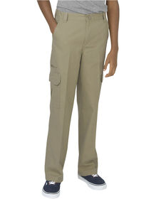 Boys' Relaxed Fit Straight Leg Ripstop Cargo Pants, 8-20 - Desert Khaki (RDS)